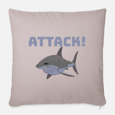 Attack ATTACK! shark - Pillowcase 17,3'' x 17,3'' (45 x 45 cm)