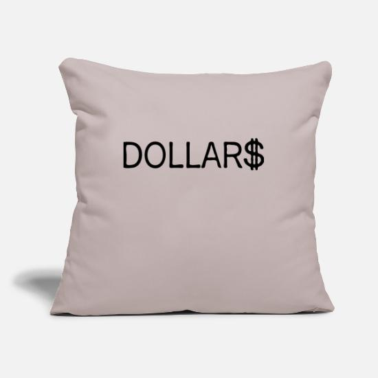 Shape Pillow Cases - dollars - Pillowcase 17,3'' x 17,3'' (45 x 45 cm) light taupe