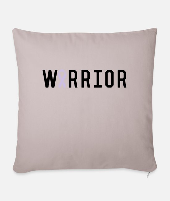 Breast Cancer Warrior Pillow Cases - Warrior Ribbon - Pillowcase 17,3'' x 17,3'' (45 x 45 cm) light taupe