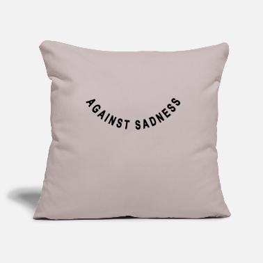 Satire against sadness (smiley) - Housse de coussin