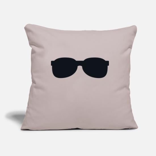 Glasses Pillow Cases - sunglasses - Pillowcase 17,3'' x 17,3'' (45 x 45 cm) light taupe