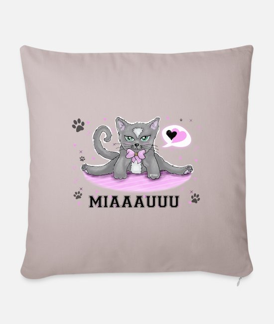Soft Kitty Pillow Cases - Soft kitty - Pillowcase 17,3'' x 17,3'' (45 x 45 cm) light taupe