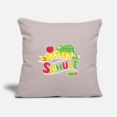 Start Hello school start of school 1st grade Sweet Chameleon - Pillowcase 17,3'' x 17,3'' (45 x 45 cm)