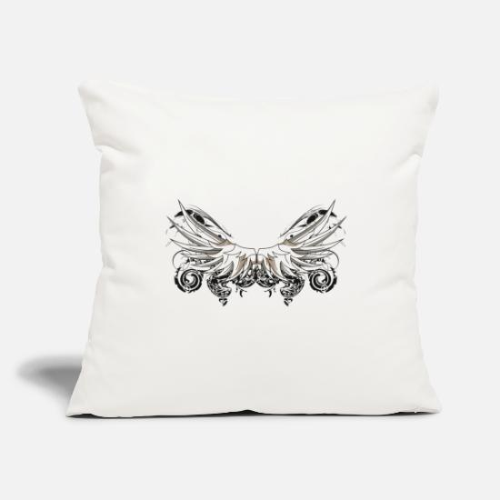 Wing Pillow Cases - wing shape fioriture go design fantasy 2503 w - Pillowcase 17,3'' x 17,3'' (45 x 45 cm) natural white