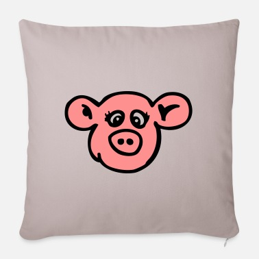 Sow naughty sow - Pillowcase 17,3'' x 17,3'' (45 x 45 cm)