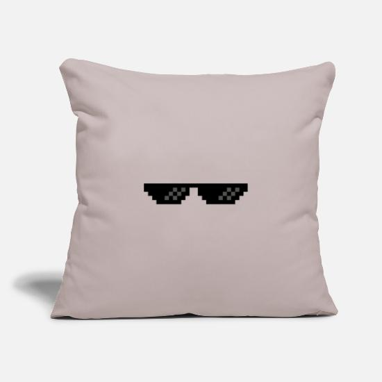 Sunglasses Pillow Cases - glass - Pillowcase 17,3'' x 17,3'' (45 x 45 cm) light taupe