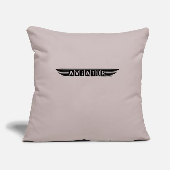 Skies Pillow Cases - aviator_vec_1 en - Pillowcase 17,3'' x 17,3'' (45 x 45 cm) light grey