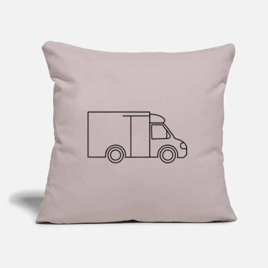 Delivery Pillow Cases - delivery service - Pillowcase 17,3'' x 17,3'' (45 x 45 cm) light grey