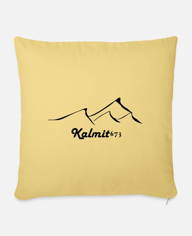 Sport Climbing Pillow Cases - Kalmit 673 summit happiness - Pillowcase 17,3'' x 17,3'' (45 x 45 cm) washed yellow