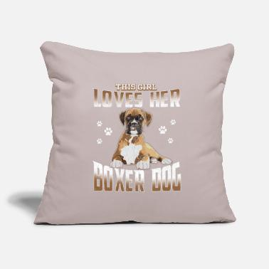 Femmina Boxer Dog Womens - This Girl Loves Her Boxer Dog - Copricuscino per divano, 44 x 44 cm