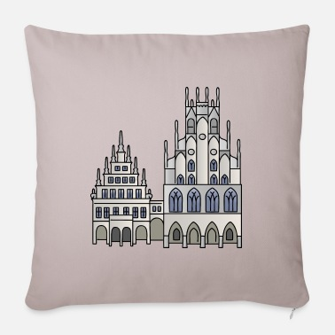 Town Hall Town Hall Münster c - Pillowcase 17,3'' x 17,3'' (45 x 45 cm)