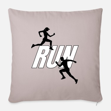 Healthy Life Running, a healthy way of life. - Pillowcase 17,3'' x 17,3'' (45 x 45 cm)
