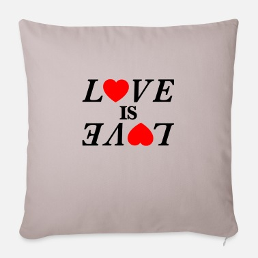 Loves Love is Love Love is love - Pillowcase 17,3'' x 17,3'' (45 x 45 cm)