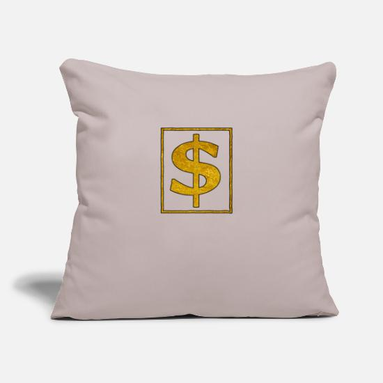 Gold Pillow Cases - Gold dollars - Pillowcase 17,3'' x 17,3'' (45 x 45 cm) light taupe