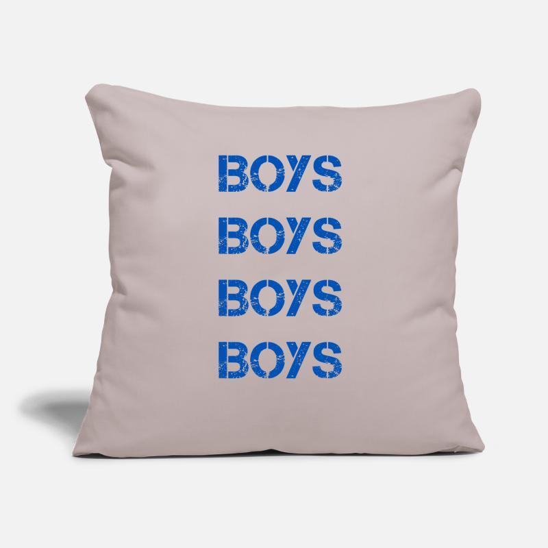 Birthday Pillow Cases - Boys boys - Pillowcase 17,3'' x 17,3'' (45 x 45 cm) light grey