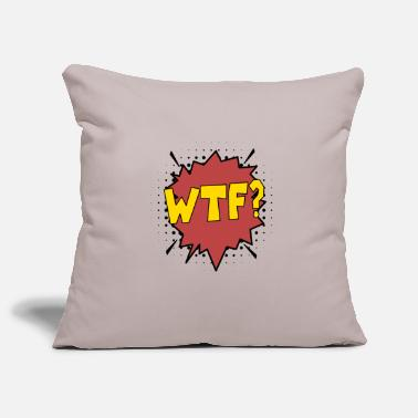 Exclamation wtf comic cartoon fun fairy tale - Pillowcase 17,3'' x 17,3'' (45 x 45 cm)