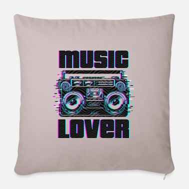 Music Lover music lover | Music lovers - Pillowcase 17,3'' x 17,3'' (45 x 45 cm)