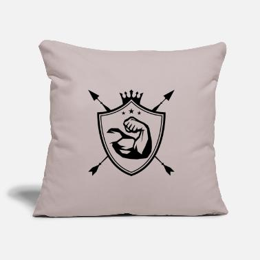 Of Arms muscles arm coat of arms - Pillowcase 17,3'' x 17,3'' (45 x 45 cm)