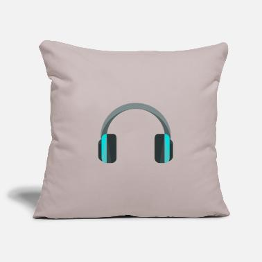 Headphones Headphones headphones - Pillowcase 17,3'' x 17,3'' (45 x 45 cm)