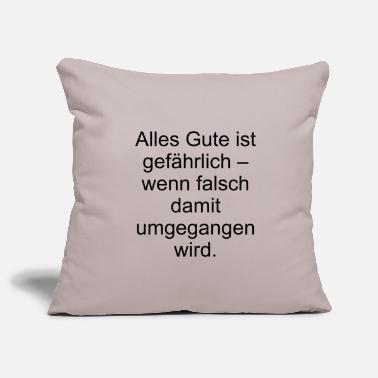 Quotes Quote - Sofa pillowcase 17,3'' x 17,3'' (45 x 45 cm)