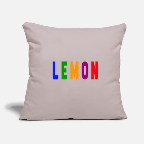 Birthday Pillow Cases - Lemon lemon - Pillowcase 17,3'' x 17,3'' (45 x 45 cm) light taupe