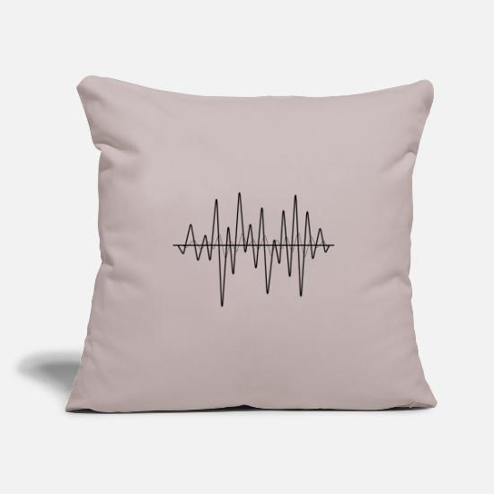 Studio Pillow Cases - sound waves - Pillowcase 17,3'' x 17,3'' (45 x 45 cm) light grey