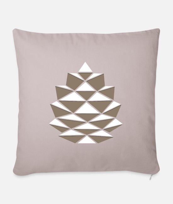 Mulled Wine Pillow Cases - pinecone - Pillowcase 17,3'' x 17,3'' (45 x 45 cm) light taupe
