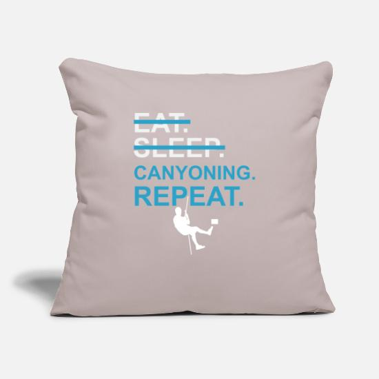 Climbing Pillow Cases - canyoning - Pillowcase 17,3'' x 17,3'' (45 x 45 cm) light taupe