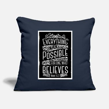 Everything is Possible motivational saying - Pillowcase 17,3'' x 17,3'' (45 x 45 cm)