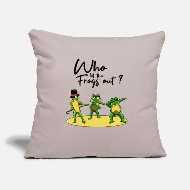 Rain DANCING FROGS TOOK I WHO LET THE FROGS OUT - Pillowcase 17,3'' x 17,3'' (45 x 45 cm)