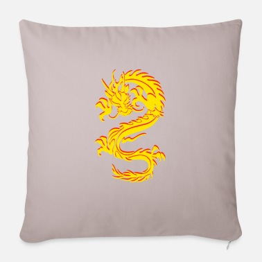 Chinese Dragon Dragon Tribal Tattoo - Pillowcase 17,3'' x 17,3'' (45 x 45 cm)