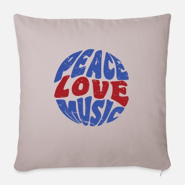 Hippie Peace Love Music Hippie Festival Music - Funda de cojín