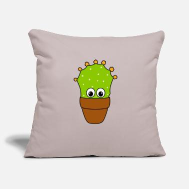 Funny Artwork Prickly Pear Cactus With Cute Buds - Pillowcase 17,3'' x 17,3'' (45 x 45 cm)