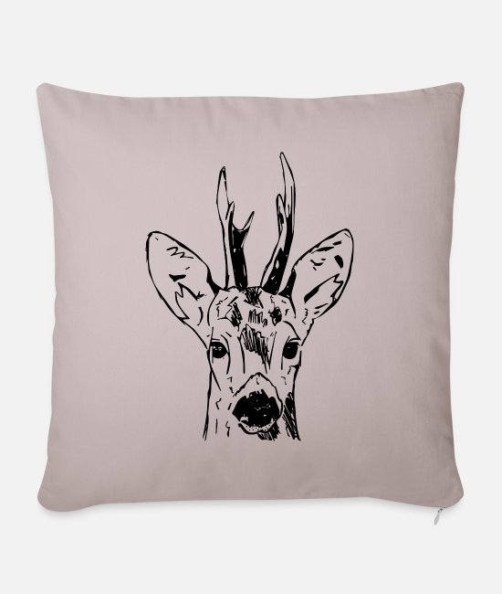 Stag Pillow Cases - Ree - Pillowcase 17,3'' x 17,3'' (45 x 45 cm) light taupe