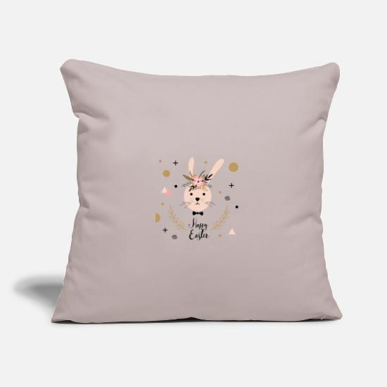Easter Pillow Cases - Happy Easter - Happy Easter - Pillowcase 17,3'' x 17,3'' (45 x 45 cm) light grey