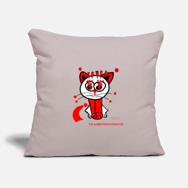 Punctuation Marks The exclamation mark cat loves punctuation marks - Pillowcase 17,3'' x 17,3'' (45 x 45 cm)