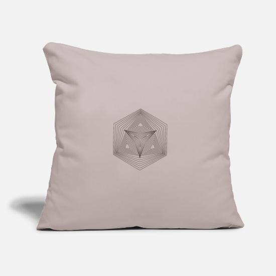 Hexagon Pillow Cases - Hexagon Hexagon Illusion Paradox Yoga Gift - Pillowcase 17,3'' x 17,3'' (45 x 45 cm) light grey