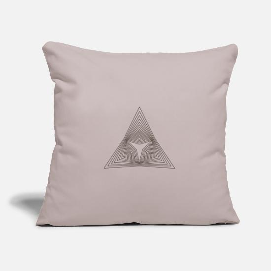 Optical Illusion Pillow Cases - Triangle pattern illusion paradox shape gift - Pillowcase 17,3'' x 17,3'' (45 x 45 cm) light grey