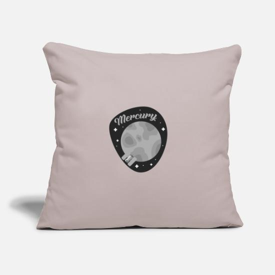 Gift Idea Pillow Cases - Mercury planet celestial space gift idea - Pillowcase 17,3'' x 17,3'' (45 x 45 cm) light taupe
