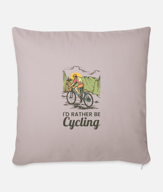 Road Bike Pillow Cases - cycle - Pillowcase 17,3'' x 17,3'' (45 x 45 cm) light taupe