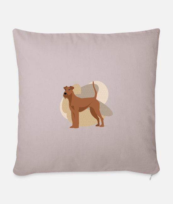 Warren Pillow Cases - Dogs Collection by IxCÖ #Irish - Pillowcase 17,3'' x 17,3'' (45 x 45 cm) light taupe