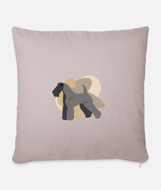 Purebred Dog Pillow Cases - Dogs Collection by IxCÖ #Kerry Blue - Pillowcase 17,3'' x 17,3'' (45 x 45 cm) light taupe