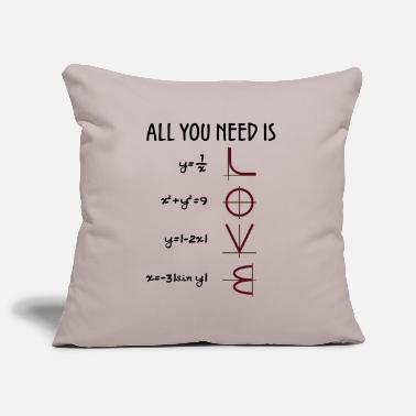 All you need is Love (Equations) gift - Sofa pillowcase 17,3'' x 17,3'' (45 x 45 cm)