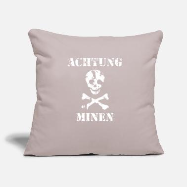 Grungy Grungy Warning Sign – Achtung Minen - Pillowcase 17,3'' x 17,3'' (45 x 45 cm)