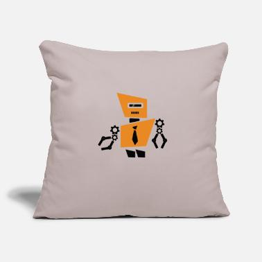 Pincers Orange robot in a suit - Pillowcase 17,3'' x 17,3'' (45 x 45 cm)