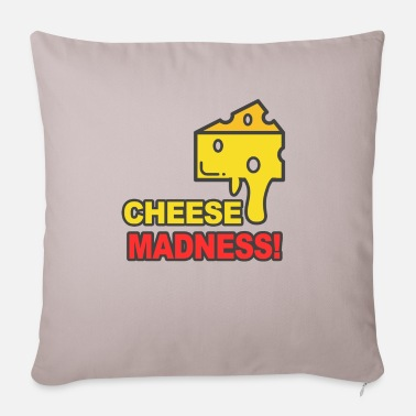 Cheese Cheese cheese cheese - Pillowcase 17,3'' x 17,3'' (45 x 45 cm)