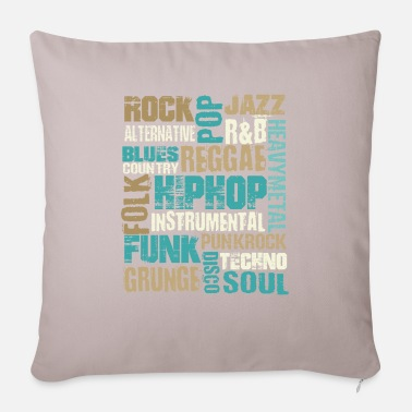 Music Genre Music genres - Pillowcase 17,3'' x 17,3'' (45 x 45 cm)