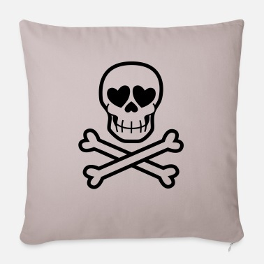 Eros & Thanatos Skull and Crossbones by Cheerful - Pillowcase 17,3'' x 17,3'' (45 x 45 cm)