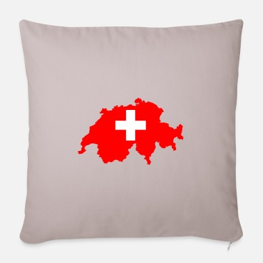 Switzerland Switzerland - Switzerland - Pillowcase 17,3'' x 17,3'' (45 x 45 cm)