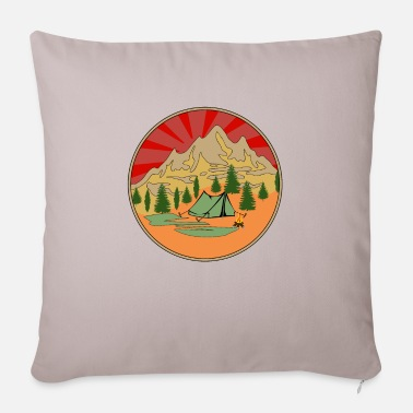 In The Days Camping in the wilderness during the day - Pillowcase 17,3'' x 17,3'' (45 x 45 cm)